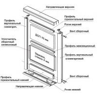 Алюминиевый профиль для изготовления мебельных и кухонных фасадов.