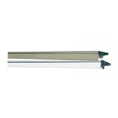 Узкий двухполозный алюминиевый карниз крашенный с молдингом