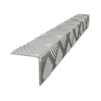 Уголок алюминиевый рифленый (квинтет) 25x25x1.5