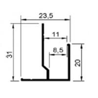 F-профиль для гипсовинила 8-10мм